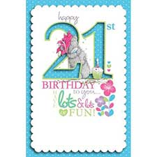 21st Birthday Me to You Bear Birthday Card