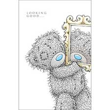 Tatty Teddy with Mirror Me to You Bear Birthday Card
