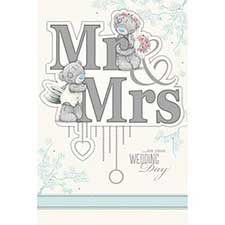 Mr & Mrs Wedding Day Me to You Bear Card