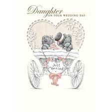 Daughter On Wedding Day Me to You Bear Card