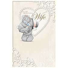 To My Beautiful Wife Me to You Bear Wedding Card