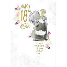 Happy 18th Birthday Me to You Bear Card