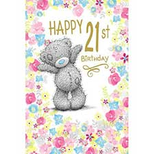 Happy 21st Birthday Me to You Bear Card