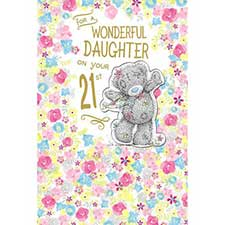 Daughter on 21st Birthday Me to You Bear Card