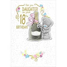 Daughter on 18th Birthday Me to You Bear Card