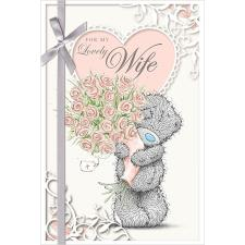3D Holographic Wife Anniversary Me to You Bear Card