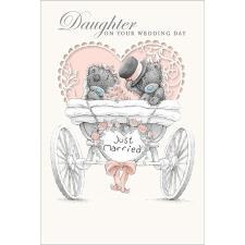 Daughter Just Married Me to You Bear Wedding Day Card