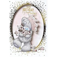 Bear & Cakes Me to You Bear Birthday Card