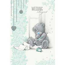 Wedding Regret Me to You Bear Card