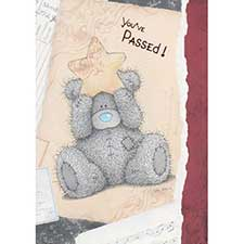 You've Passed! Me to You Bear Card