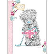 Tatty Teddy with Union Jack Birthday Me to You Bear Card