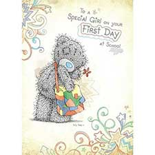 Special Girl First Day of School Me to You Bear Card