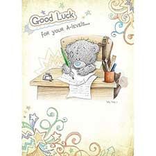 Good Luck for you're A-levels Me to You Bear Card