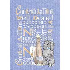 Congratulations Me to You Bear Card