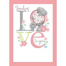 Tatty Teddy with Heart Me to You Bear Birthday Card