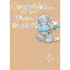 Exam Results Congratulations Me to You Bear Card