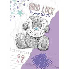 Good Luck in SATs Me to You Bear Card