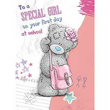 Girls 1st Day at School Me to You Bear Card