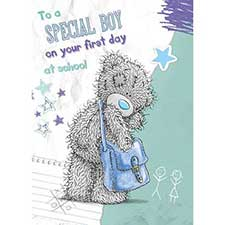 Boys 1st Day at School Me to You Bear Card