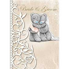 Bride & Groom Wedding Day Me to You Bear Card