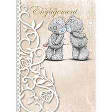 On Your Engagement Me to You Bear Card