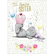 Special Sister Me to You Bear Birthday Card