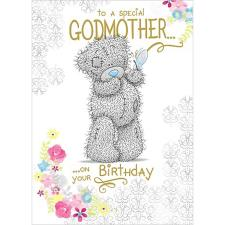 Godmother Birthday Me to You Bear Card