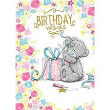 Birthday Wishes Me to You Bear Card
