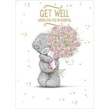 Get Well In Hospital Me to You Bear Card
