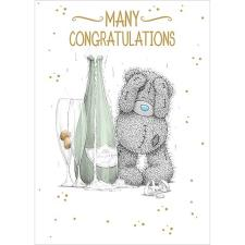 Many Congratulations Me to You Bear Card