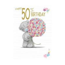 Happy 50th Birthday Me to You Bear Birthday Card