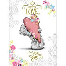 Sending Love Me to You Bear Birthday Card