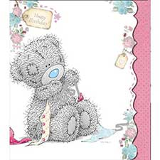 Tatty Teddy Making Bow Birthday Me to You Bear Card