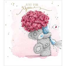 Just For You Bouquet Me to You Bear Card
