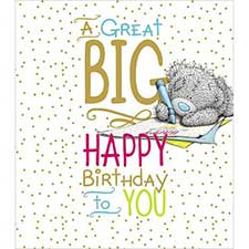Big Happy Birthday Me to You Bear Card