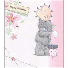 Bear with Heart Balloon Me to You Bear Birthday Card