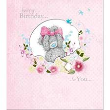 Tatty Teddy with Bow Me to You Bear Birthday Card