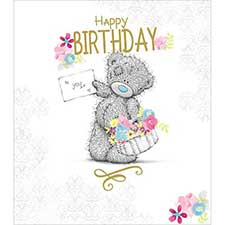 Happy Birthday To You Me to You Bear Card