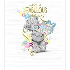 Fabulous Birthday Chocolates Me to You Bear Card