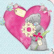 Tatty Teddy with Pink Heart Birthday Me to You Bear Card