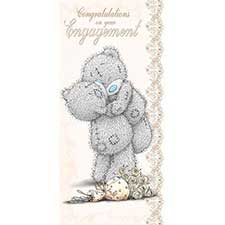 Engagement Congratulations Me to You Bear Card