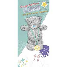 Grandson Exam Congratulations Me to You Bear Card