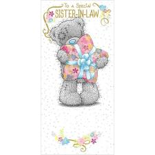 Sister-In-Law Birthday Me to You Bear Card