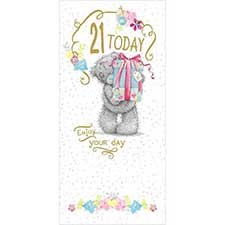 21 Today 21st Birthday Me to You Bear Card