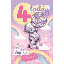 4 Today Me to You Bear 4th Birthday Card