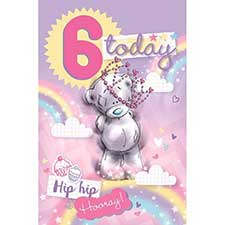 6 Today Me to You Bear 6th Birthday Card