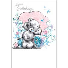 Tatty Teddy with Flowers Me to You Bear Birthday Card