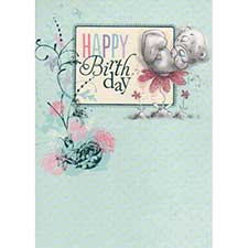 Tatty Teddy on Flower Me to You Bear Birthday Card