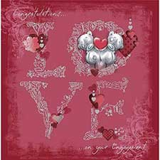 Love Engagement Me to You Bear Card