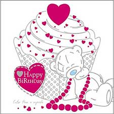 Tatty Teddy Sitting by Cake Me to You Bear Birthday Card